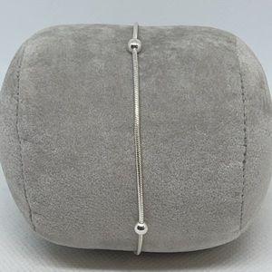 "Sterling Silver 9"" Ball Chain Bracelet"